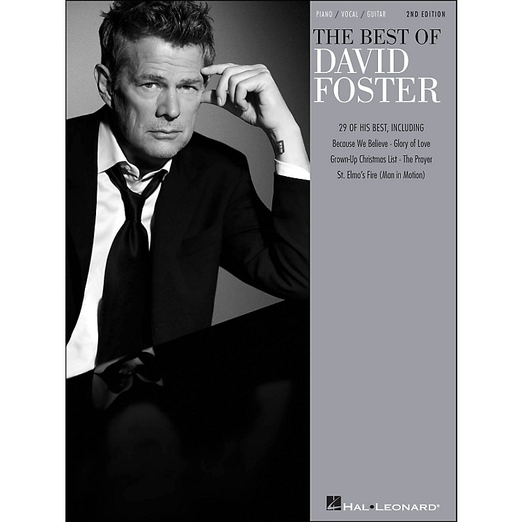 Hal LeonardBest Of David Foster - 2nd Edition arranged for piano, vocal, and guitar (P/V/G)