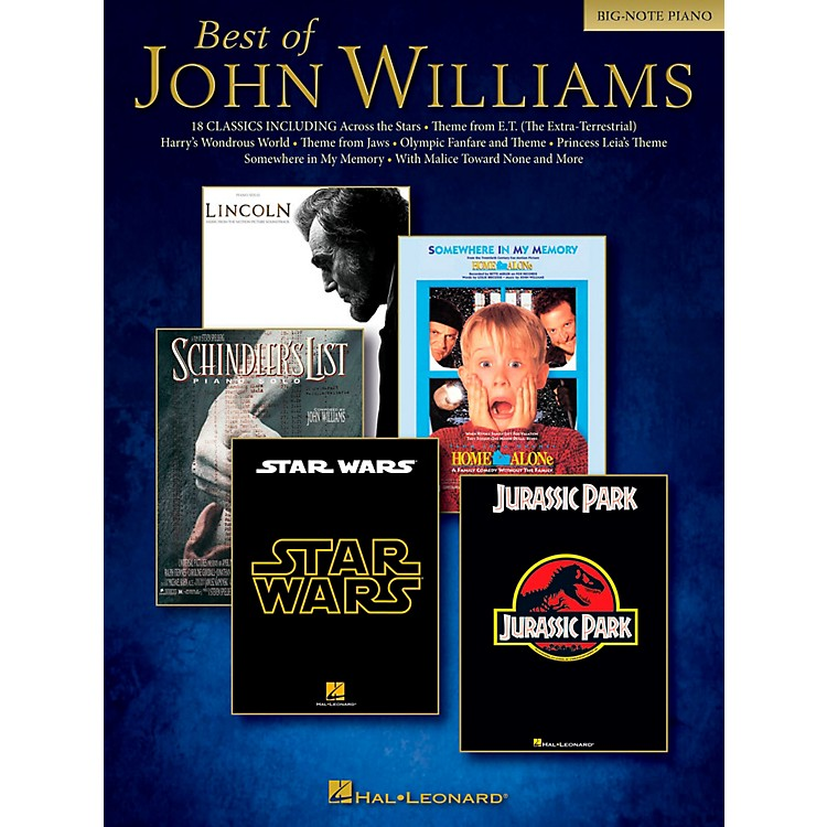 Hal Leonard Best Of John Williams For Big Note Piano