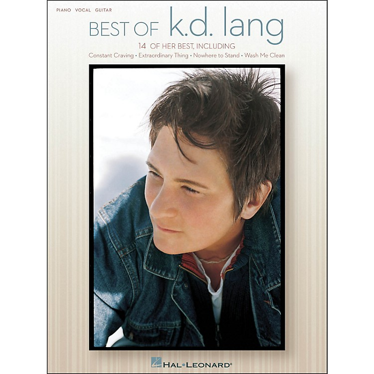 Hal Leonard Best Of KD Lang arranged for piano, vocal, and guitar (P/V/G)
