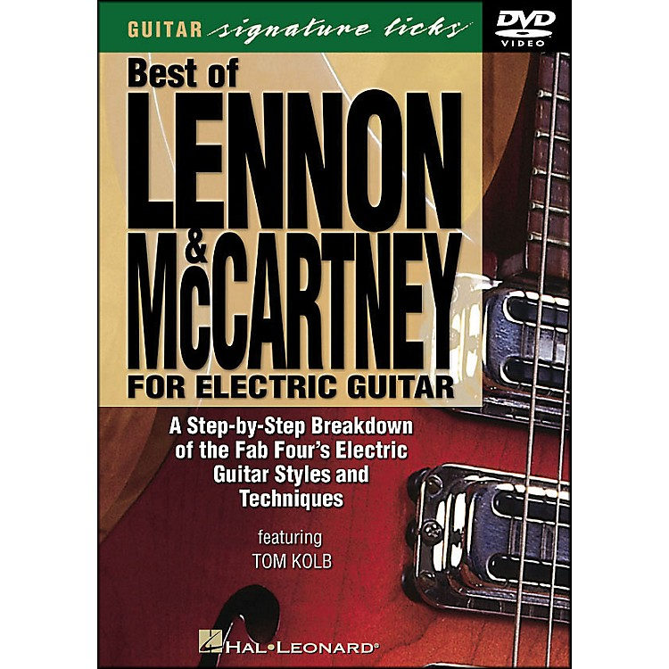 Hal LeonardBest Of Lennon & McCartney for Electric Guitar Signature Licks DVD