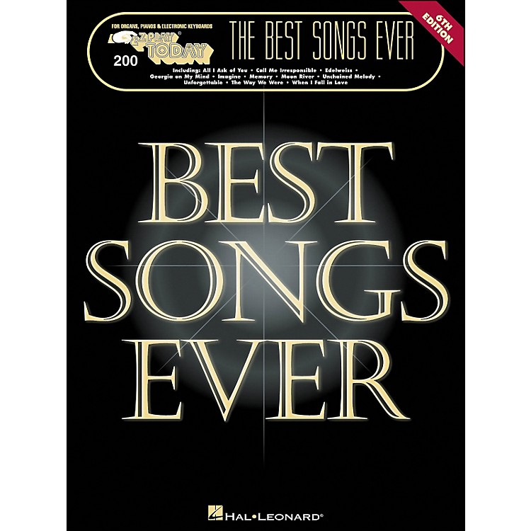 Hal Leonard Best Songs Ever 6Th Edition E-Z Play 200