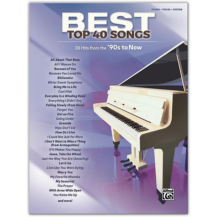 Alfred Best Top 40 Songs: '90s to Now, Piano/Vocal/Guitar Songbook