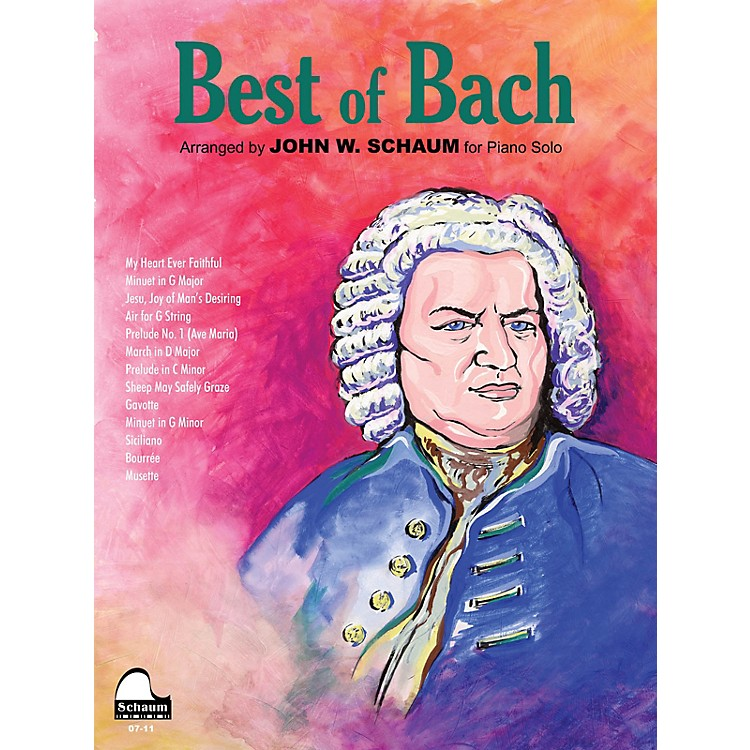 SCHAUMBest of Bach Educational Piano Series Softcover