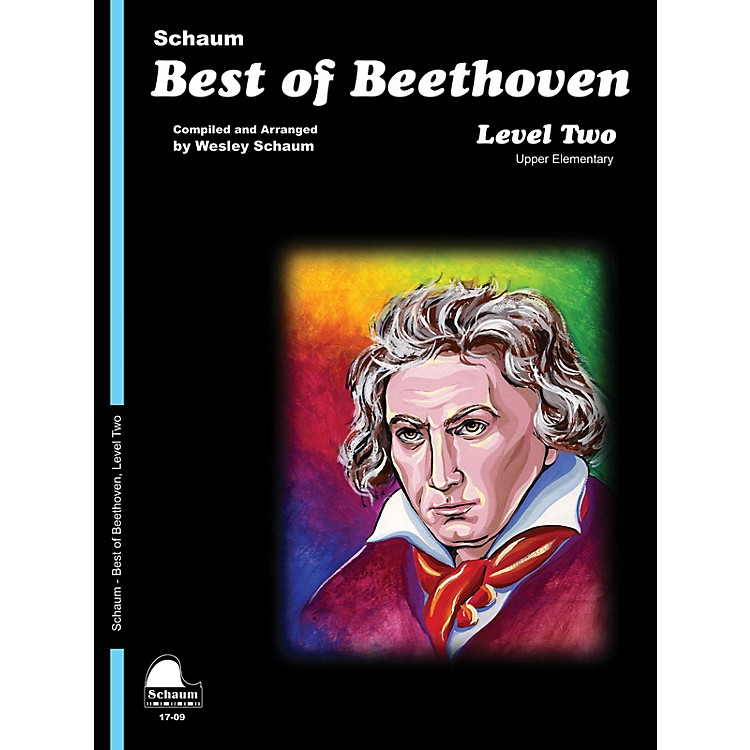 SCHAUMBest of Beethoven Educational Piano Book by Ludwig van Beethoven (Level Late Elem)