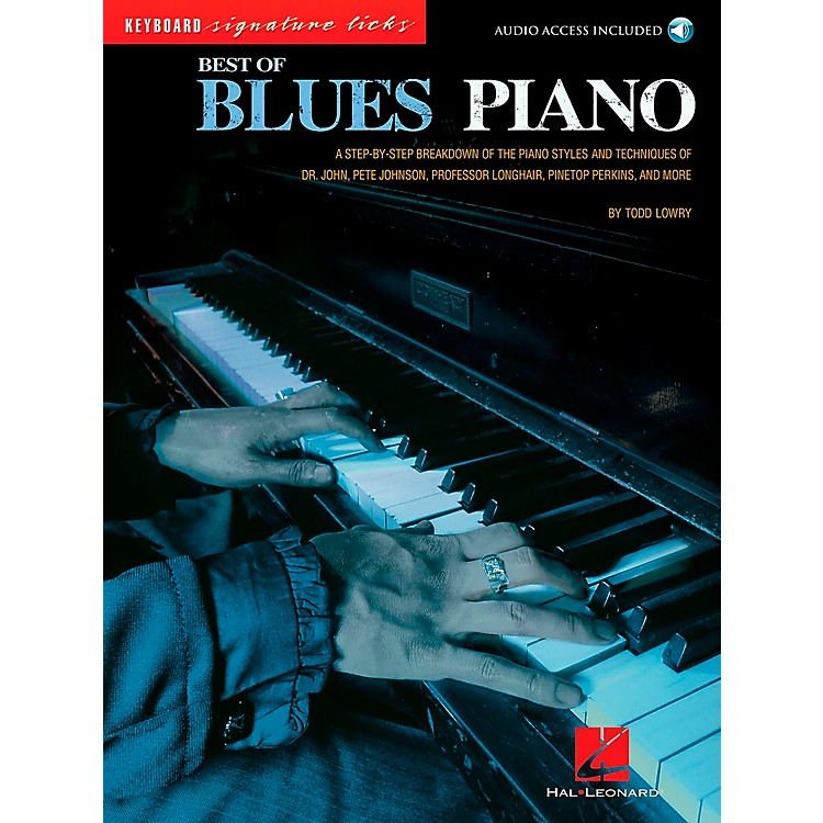 Hal Leonard Best of Blues Piano Signature Licks Songbook with CD