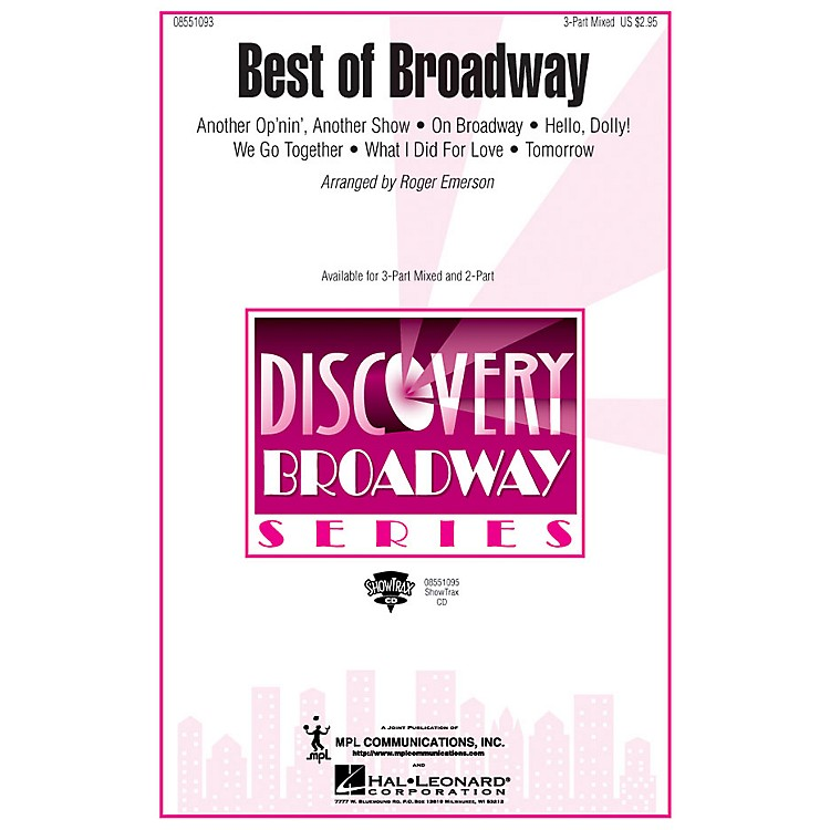 Hal LeonardBest of Broadway (Medley) 3-Part Mixed arranged by Roger Emerson