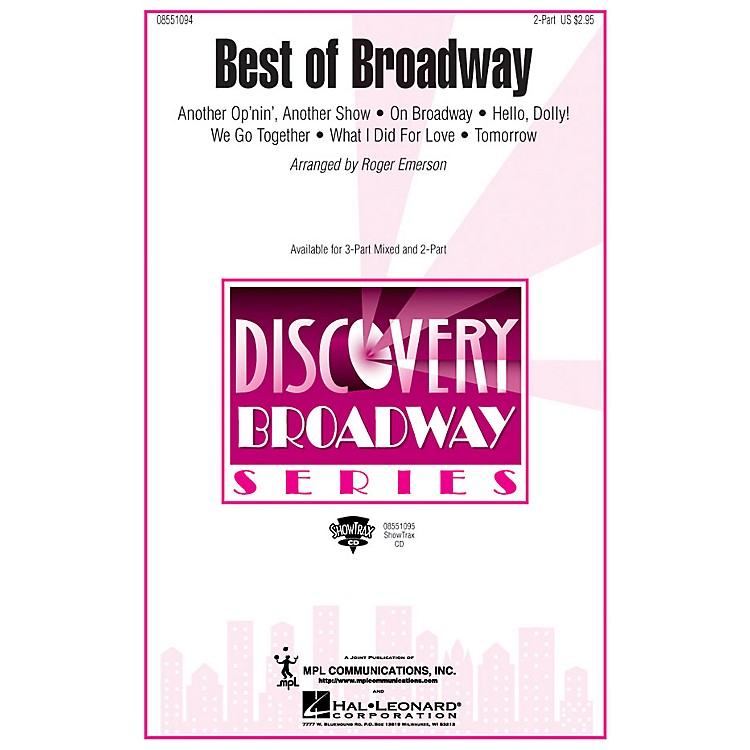 Hal LeonardBest of Broadway (Medley) ShowTrax CD Arranged by Roger Emerson