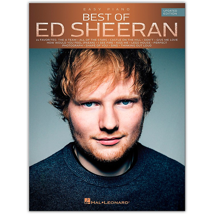 Hal LeonardBest of Ed Sheeran for Easy Piano (Updated Edition) Easy Piano Personality Series Softcover by Ed Sheeran