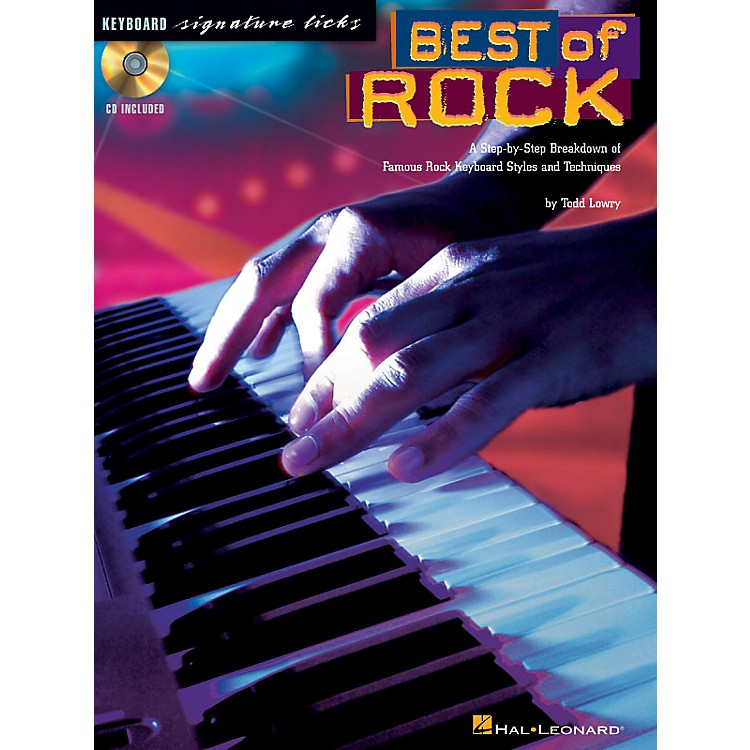 Hal Leonard Best of Rock Signature Licks Keyboard Series Softcover with CD Written by Todd Lowry