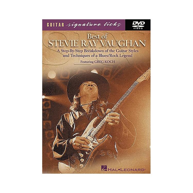 Hal LeonardBest of Stevie Ray Vaughan Signature Licks (DVD)