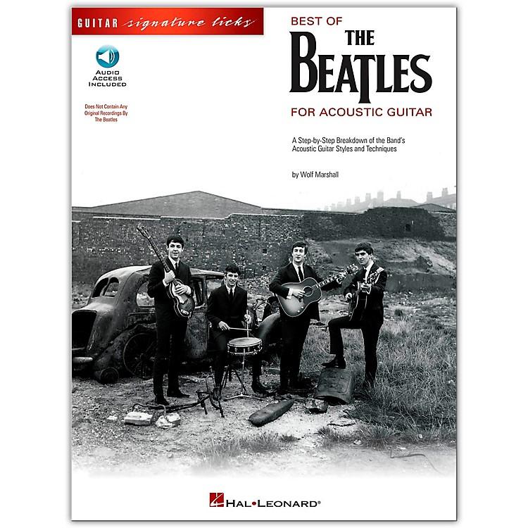 Hal LeonardBest of The Beatles for Acoustic Guitar Signature Licks (Book/Online Audio)