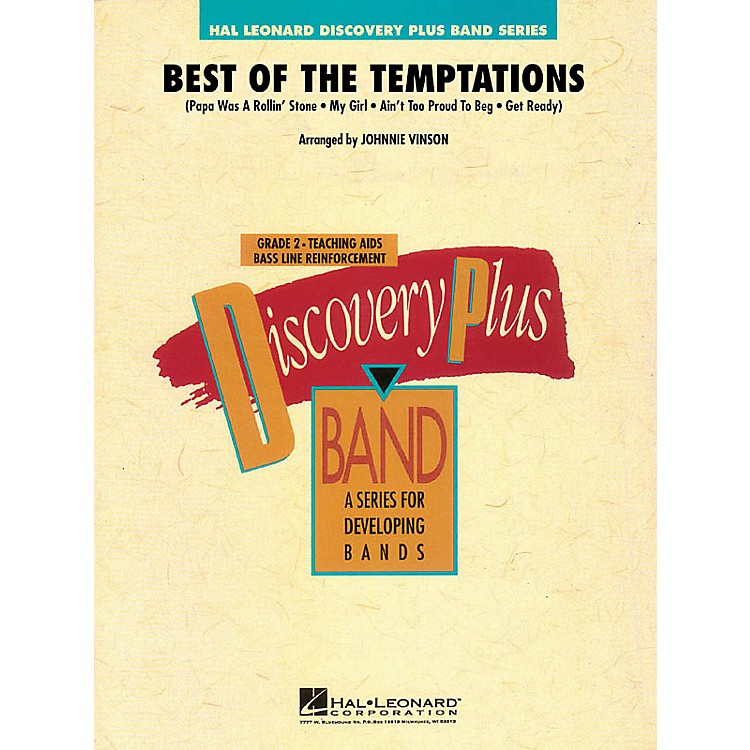 Hal LeonardBest of The Temptations - Discovery Plus Band Level 2 arranged by Johnnie Vinson