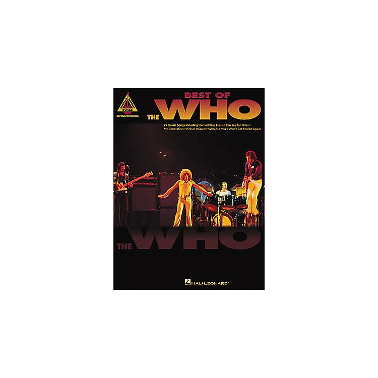 Hal Leonard Best of The Who Guitar Tab Book