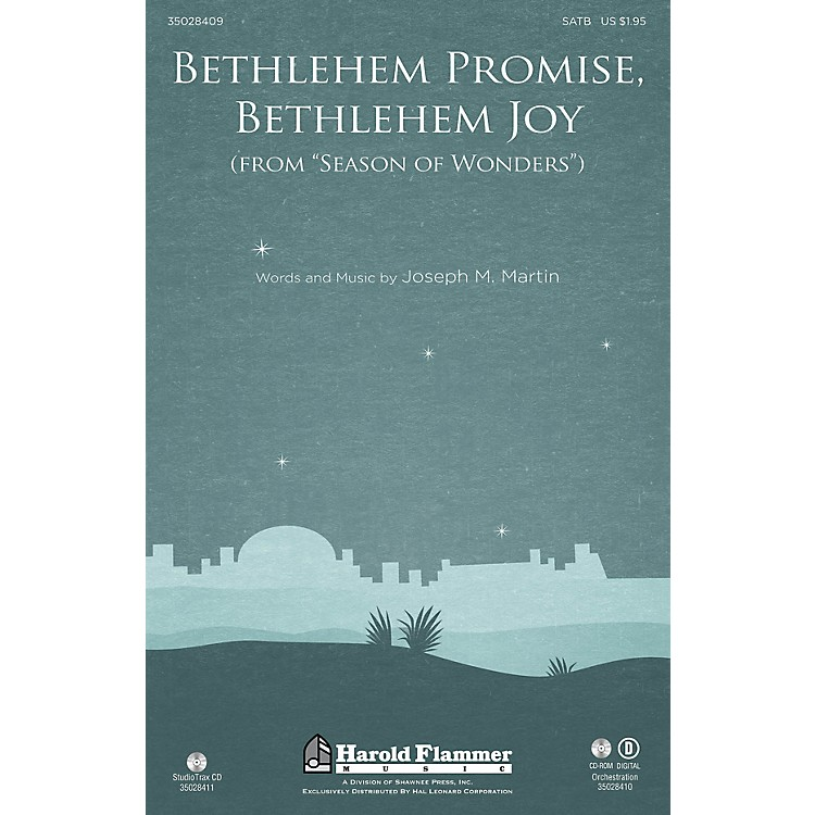 Shawnee Press Bethlehem Promise, Bethlehem Joy (from Season of Wonders) Studiotrax CD Composed by Joseph M. Martin