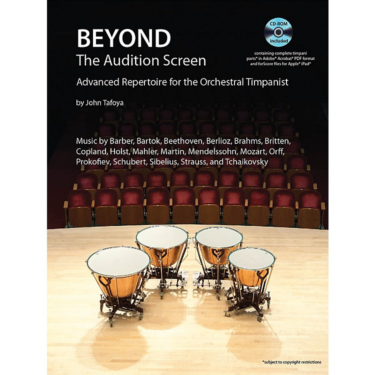 Hal LeonardBeyond the Audition Screen Percussion Series Softcover with CD Written by John Tafoya