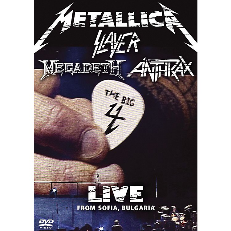 WEA Big 4 Live from Sofia Bulgaria: Metallica, Slayer, Megadeth, Anthrax 2 DVDs