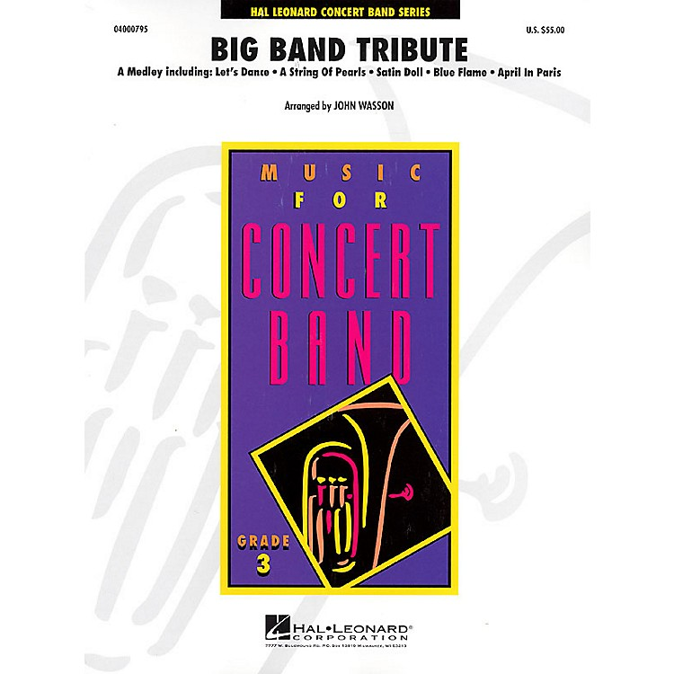 Hal Leonard Big Band Tribute Full Score Concert Band