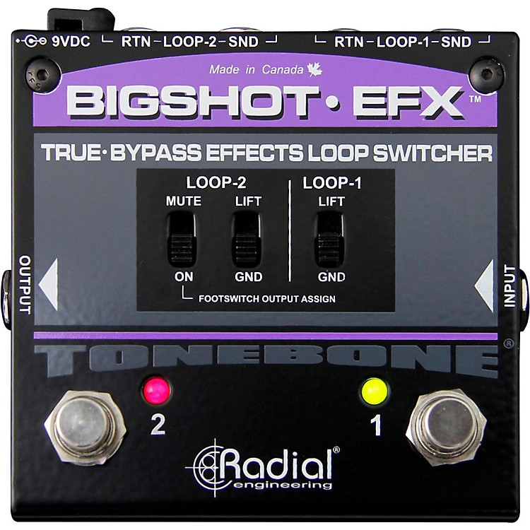 Radial Engineering BigShot EFX Effects Loop Switcher Pedal