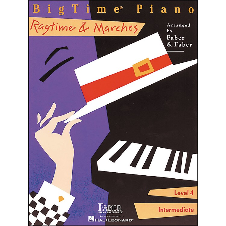 Faber Piano AdventuresBigtime Piano Ragtime & Marches Level 4 Intermediate - Faber Piano