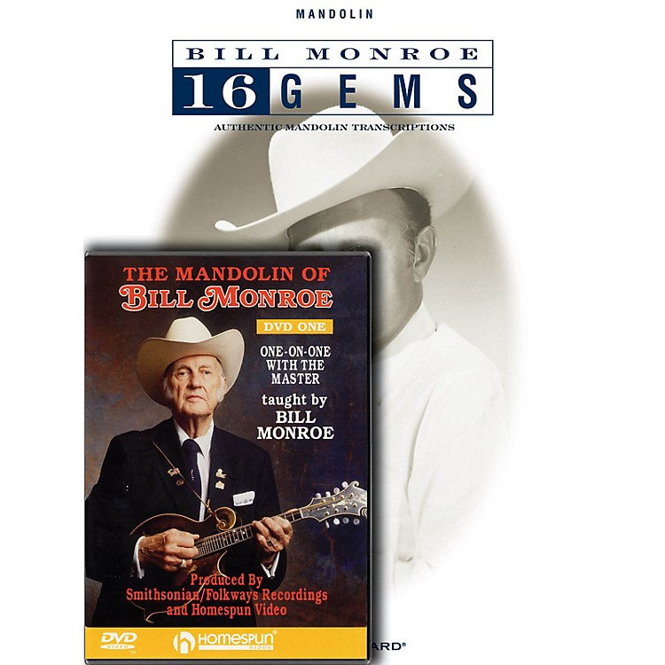 HomespunBill Monroe Mandolin Pack Homespun Tapes Series Softcover with DVD Performed by Bill Monroe
