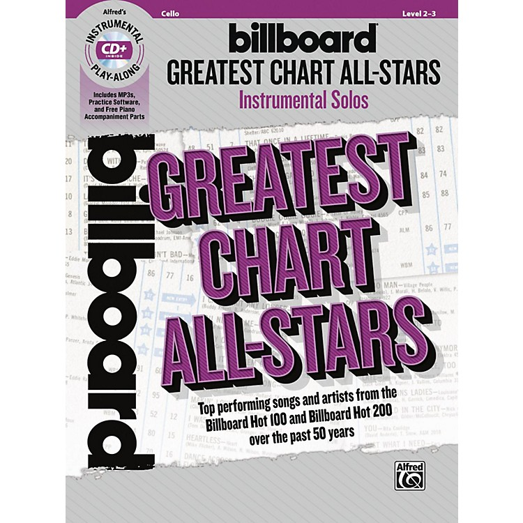 AlfredBillboard Greatest Chart All-Stars Instrumental Solos for Strings Cello Book & CD Level 2-3