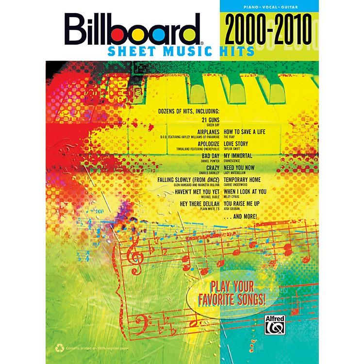 AlfredBillboard Sheet Music Hits 20002010 PVC