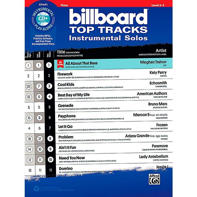 AlfredBillboard Top Tracks Instrumental Solos - Flute Book & CD Play-Along