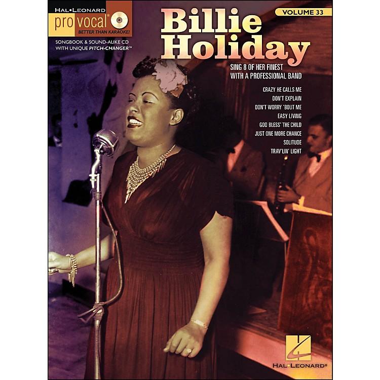 Hal LeonardBillie Holiday Pro Vocal Songbook & CD for Female Singers Volume 33