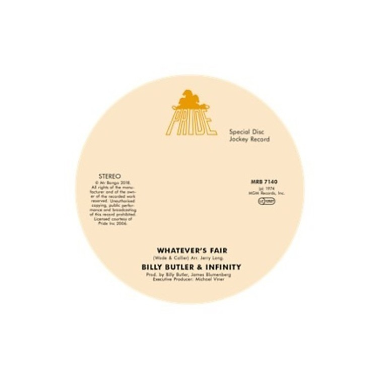 AllianceBilly Butler & Infinity & Lady Lee - Whatever'S Fair / Simple Things