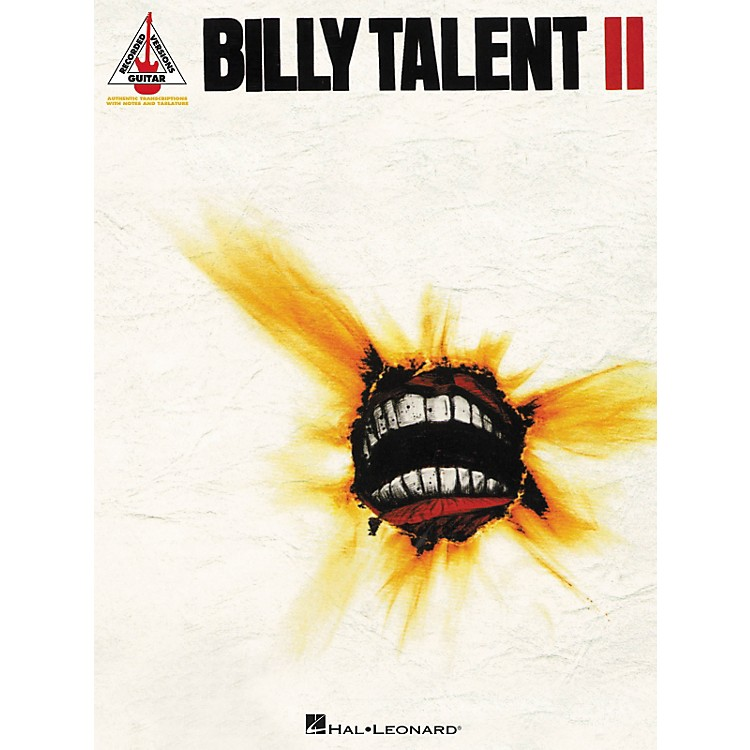 Hal LeonardBilly Talent II Guitar Tab Songbook
