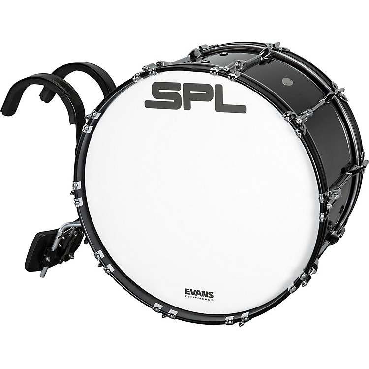 Sound Percussion Labs Birch Marching Bass Drum with Carrier - Black 16 x 14 in.