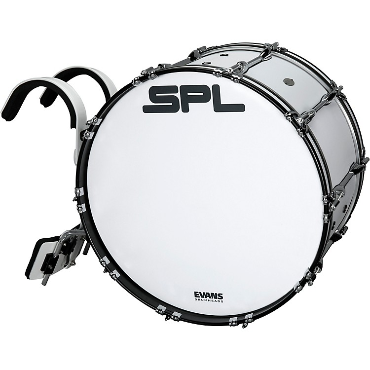 Sound Percussion LabsBirch Marching Bass Drum with Carrier - White26 x 14 in.