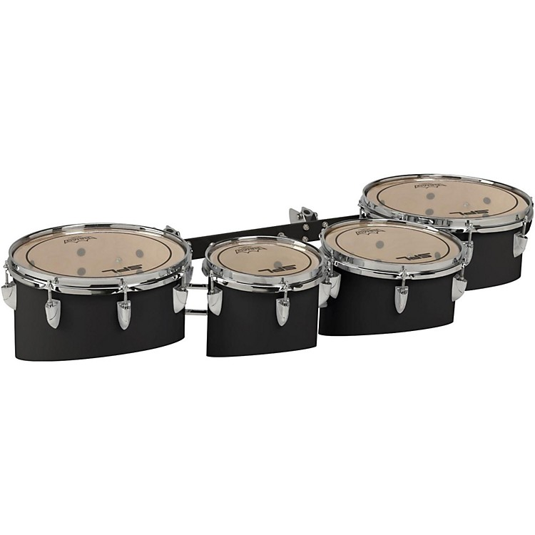 Sound Percussion Labs Birch Marching Quads with Carrier 8 in.,10 in.,12 in.,13 in. Black