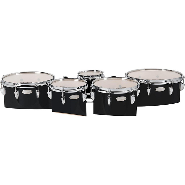 Sound Percussion Labs Birch Marching Quints with Carrier 6/8/10/12/13  White