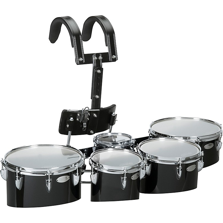 sound percussion labs birch marching quints with carrier 6 8 10 12 13 white music123. Black Bedroom Furniture Sets. Home Design Ideas