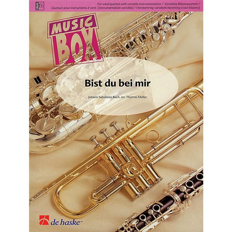 De Haske MusicBist du bei mir (Music Box Variable Wind Quartet) Concert Band Level 3 Arranged by Thomas Müller