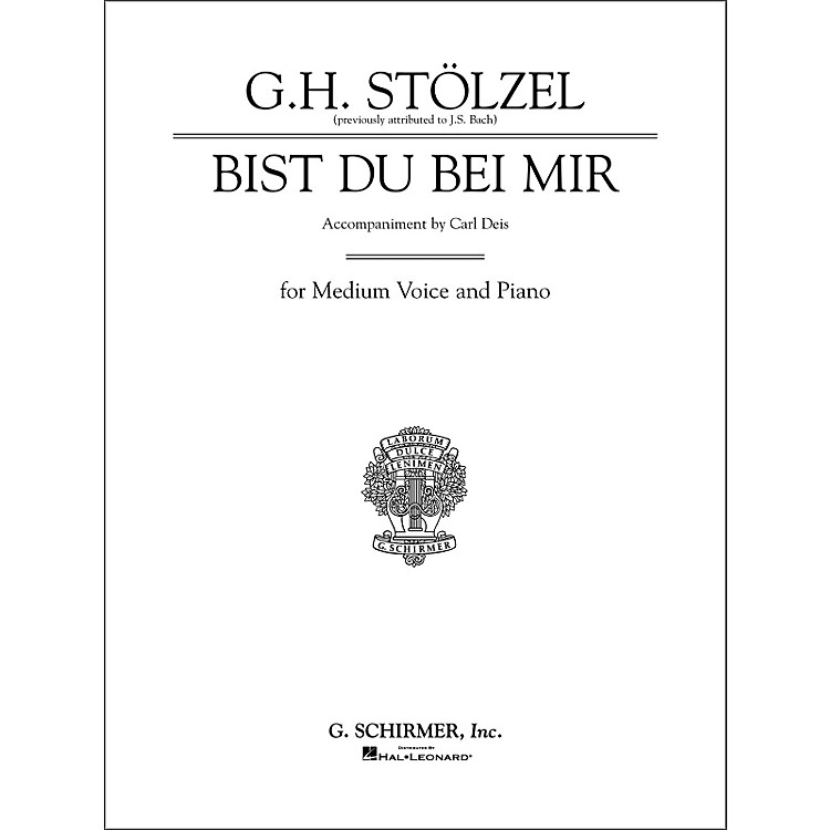 G. SchirmerBist du bei mir (Thou Art My Joy) for Medium Voice By Bach / Deis