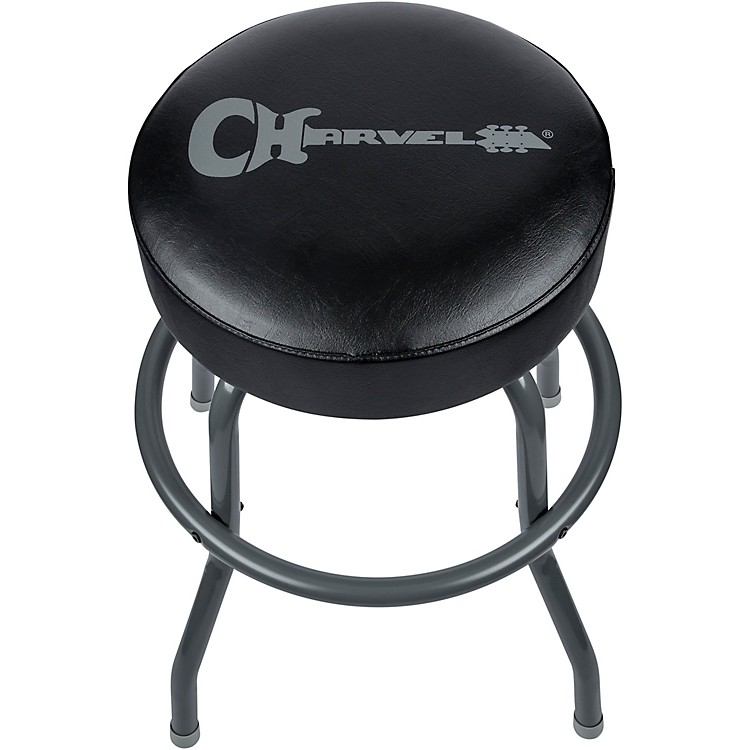 CharvelBlack And Gray Bar Stool 24in