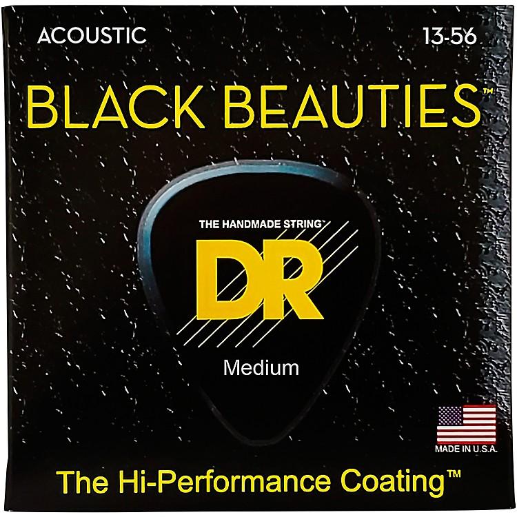 DR StringsBlack Beauties Heavy Acoustic Guitar Strings