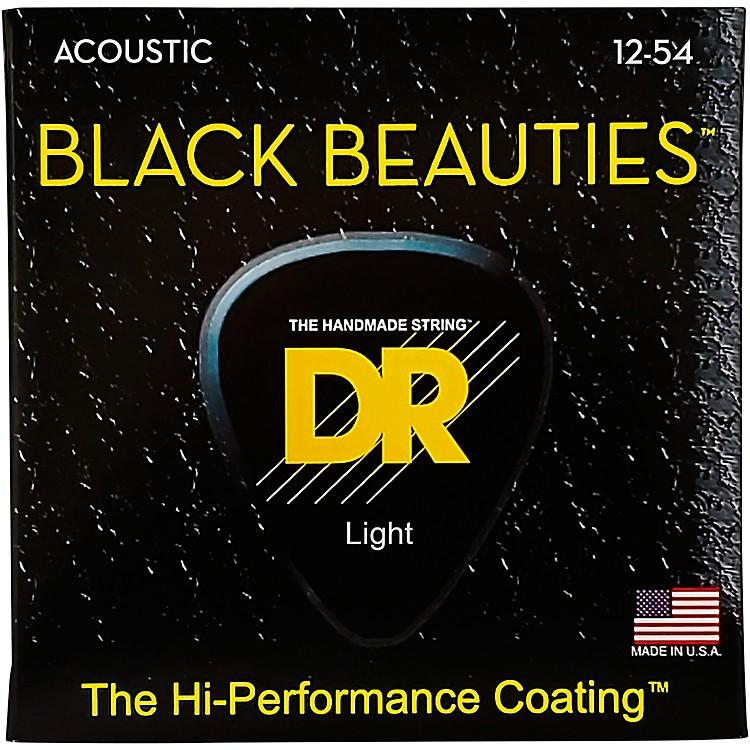 DR StringsBlack Beauties Medium Acoustic Guitar Strings