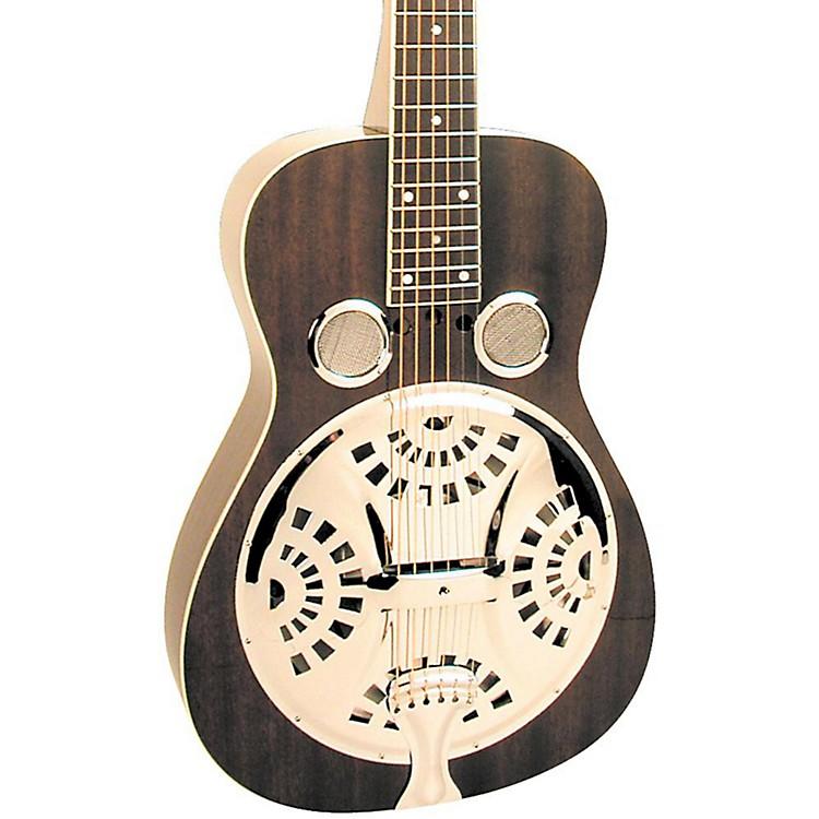 RegalBlack Lightning Resonator Guitar