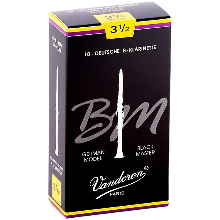 Vandoren Black Master Bb Clarinet Reeds Strength 5+, Box of 10