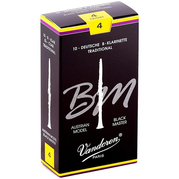 VandorenBlack Master Traditional Bb Clarinet ReedsBox of 10, Strength 4