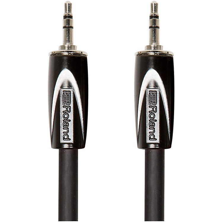 Roland Black Series 3.5mm TRS-3.5mm TRS Balanced Interconnect Cable 5 ft. Black
