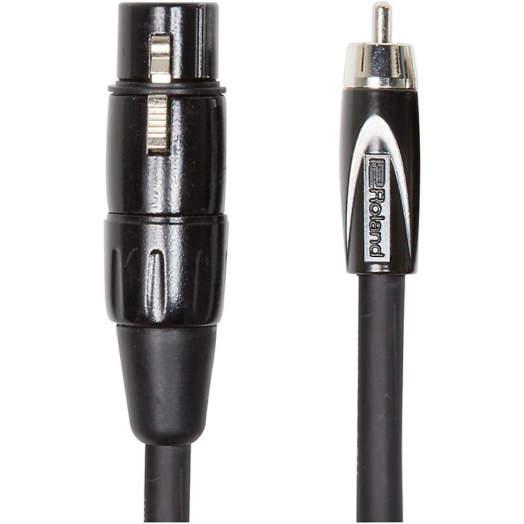 Roland Black Series XLR (Female) - RCA Interconnect Cable 10 ft. Black