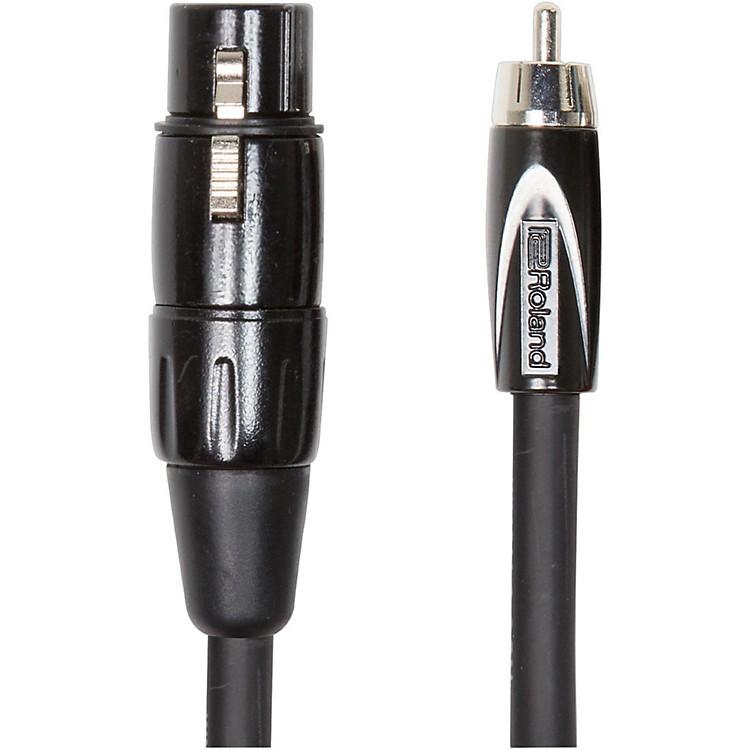 RolandBlack Series XLR (Female) - RCA Interconnect Cable5 ft.Black