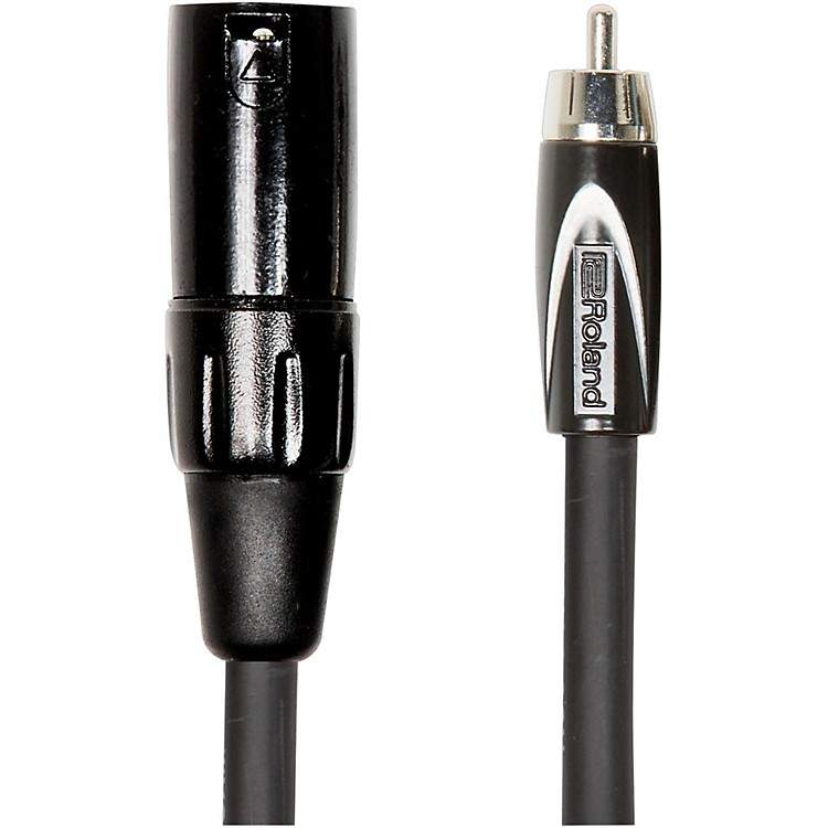 Roland Black Series XLR (Male) - RCA Interconnect Cable 10 ft. Black