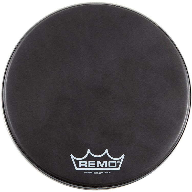 Remo Black Suede PowerMax Series Bass Drumhead with Crimplock Matte Black 22