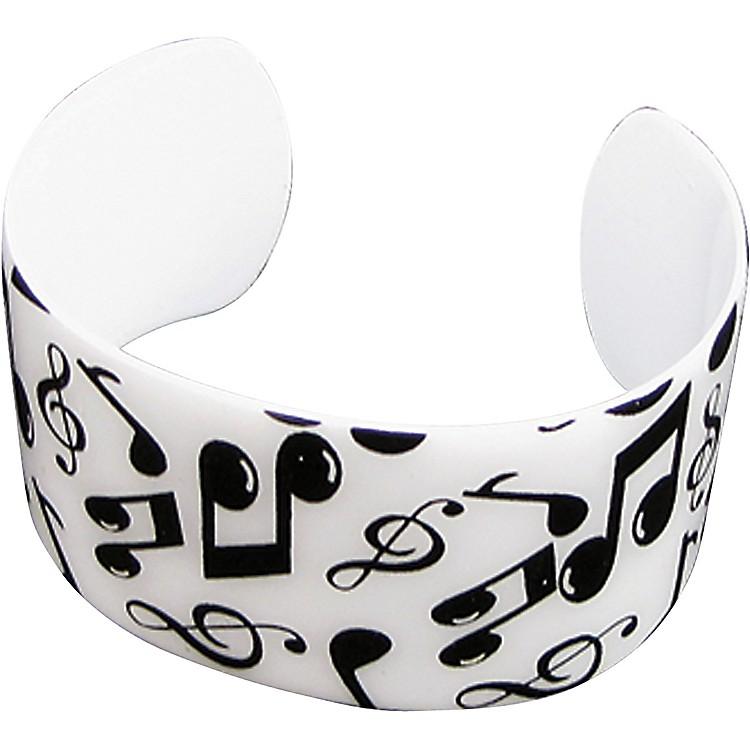 AIMBlack/White Musical Notes Cuff Bracelet