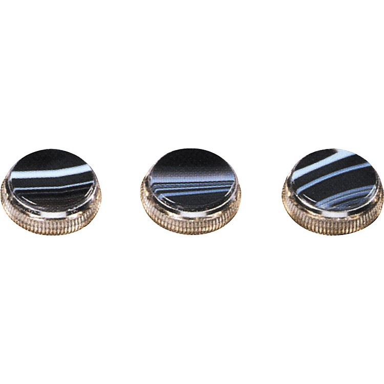Bach Black and White Sardonyx Trumpet Finger Buttons 3-Pack Gold